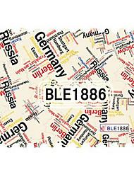 YeManNvYou®5PCS Latest Water Transfer Printing Stamp GERMAN Writing Graffiti Nail Art Stickers BLE Sery No.1886