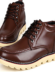 Sanxiong Mode Bottines chaud avec lacet (Brown)