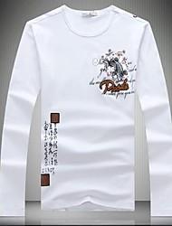 Nouvelle marque de qualité à manches longues T-shirt du coton des hommes