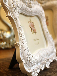 "9.5""H Empaistic Rose Polyresin Picture Frame"