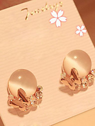 J & G Elegante Diamonade Opal Ohrstecker
