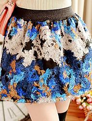 Vintage Fur Skirt del patrón de la Mujer