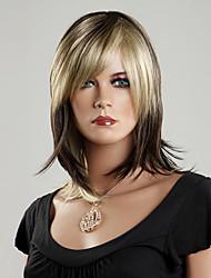 100% Japanese Kanekalon Synthetic Short Straight Wig(Mixed Color)