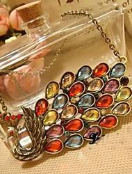J & G collar de Bohemia del pavo real Forma de colores