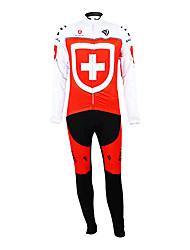 Kooplus - L'équipe nationale suisse de recyclage bavoir en molleton à manches longues Suit