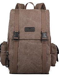 Men Canvas Casual Backpack Blue / Green / Brown