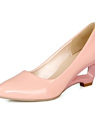 Women's Shoes Patent Leather Spring / Summer / Fall Heels / Comfort Heels Party & Evening Wedge Heel Others Pink / Ivory