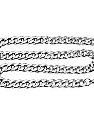 mode collier en acier de titane argent de la chaîne (largeur: 3 mm) (1 pc)