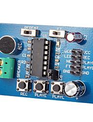 Blue Pcb Version Isd1820 Voice Board Module (On-Board Microphone) Sound Recording Module