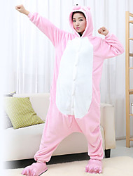 Kigurumi Pijamas Porquinho/Leitão Malha Collant/Pijama Macacão Festival/Celebração Pijamas Animal Rosa Miscelânea Flanela Kigurumi Para
