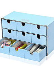 Modern Blue 9 Girds Paper Storage Cabinet