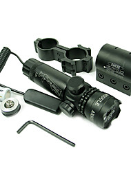 Professional Green Laser Hunting Scope Black Aluminium Alloy With Mount