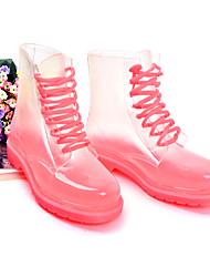 Yangguangjiemei Moda Transparente Martin Botas (Bottom Pink)