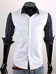 White Stripe manches affaires shirt CUBFACE hommes