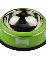 Stainless Steel Bowls for Pets Dogs (Assorted Colors)