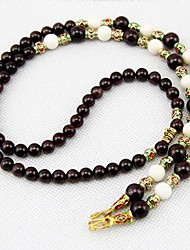 Fashion Natural Garnet and Tridacna Women's Necklace
