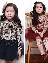 Girl's Dress Cotton / Chiffon All Seasons
