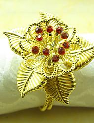 Sun Flower mariage Serviette Set de 6, Crystal Dia métal 4.5cm