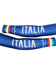 KOOPLUS - Italian National Team Polyester+Lycra Blue Cycling Oversleeve