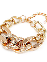 Shixin® Fashion Lock Twisted Chain & Link Bracelet(Random Color)
