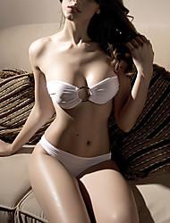 Sexy Bandeau Branco Set Bikini