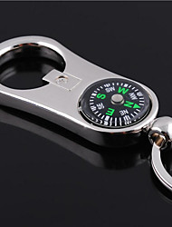 Personalized Engraved Gift Curve Compass Style Shaped Keychain