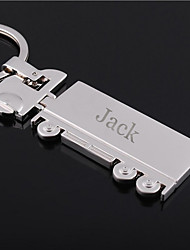 Personalized Engraved Gift Truck Shaped Keychain