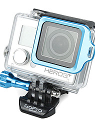 GoPro Aluminum Blue LANYARD RING Mount with Hidden Screw Design for 3 Plus / 3+