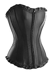 plastique satiné désossage corset lingerie sexy shapewear shaper