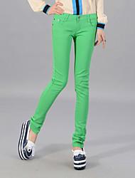 Women's Elasticity Skinny Colurful Pencil Jeans