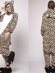 Unisex Fierce Leopard Bear Coral Fleece Kigurumi Pajama