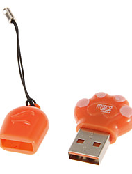 USB 2.0 Memory Card Reader (Gray/Purple/Orange)