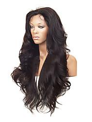 "26 ""100% cabelo humano da celebridade cabelo brasileiro Frente Lace Wig"