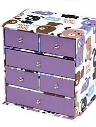 Fashion Purple 4 Drawers Paper Storage Cabinet