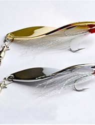 Hot Sale New 7g/4.4cm Metal Spinner Fishing Lures(20pcs)