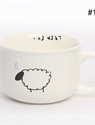 Ceramic Coffee Mug Stick Figure Milk Cup(Assorted Color)