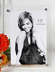 """7.50 """"H style simple cadre rectangulaire en acrylique Photo"""