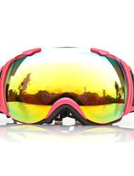 BASTO Yellow Red Frame Sensor-Spiegel-Objektiv Schnee googgles