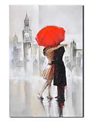 Hand Painted Oil Painting People Lovers Kissing with Stretched Frame