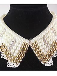 Women's Vintage Pearls V Neck Collar