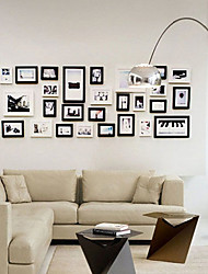 Contemporary Gallery Collage Picture Frames, Set of 31