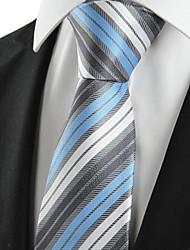 De cravate de nouveau rayé bleu classique hommes pour le cadeau de vacances de noce