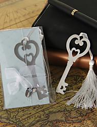 Argento Heart & Key segnalibro con nappa