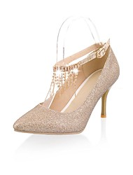 Sparking Glitter Women's Cone Heel Mary Jane with Rhinestone/Shoes(More Colors)