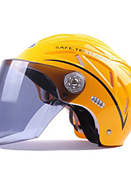 High-Quality ABS Material Free Size Motorcycle Half Face Helmet