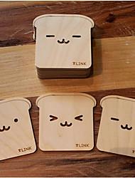 Sorriso Rosto Coaster de madeira - conjunto de 2 (Random Projeto)