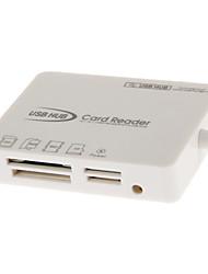 2.0 lector de tarjetas de memoria HY-617 USB todo en uno (Blanco)