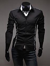 Noir Fit de A & W Hommes coupe-shirt manches longues Loisirs