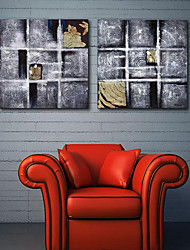 Stretched Canvas Print Art Abstract Annual Ring Set of 2