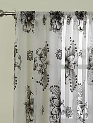(Due pannelli) moderni fantasia fiori astratti affollano tenda pura